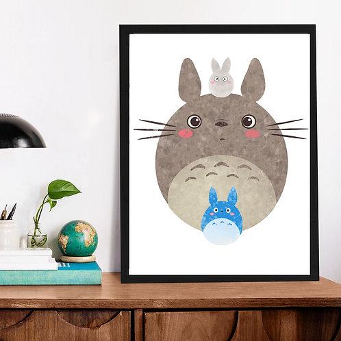 Affiche Totoro watercolor 541