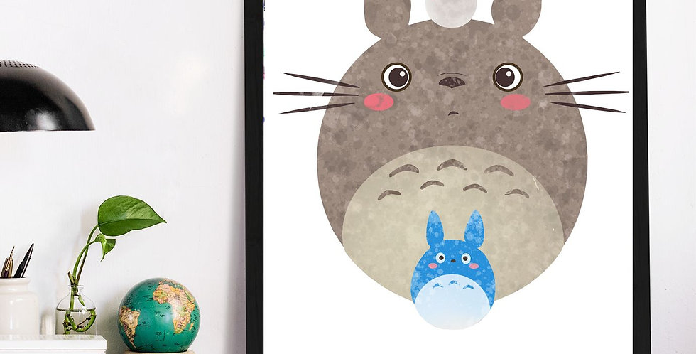 Affiche Totoro watercolor 541
