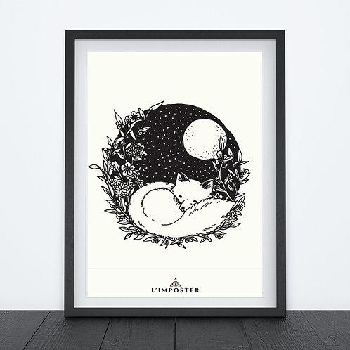 Affiche Bébé renard