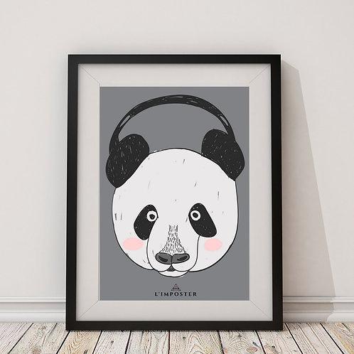 Affiche Panda listen music