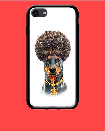 Coque mobile iPhone chien afro 183