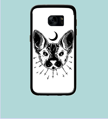 Coque mobile Samsung chat lune 352