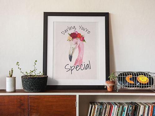 Affiche Illustration citation special