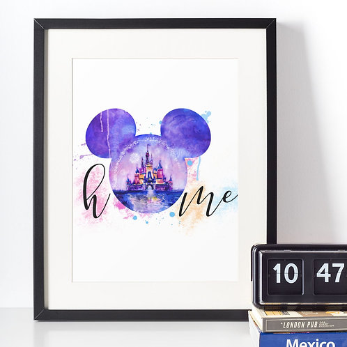 Affiche tête mickey home 434