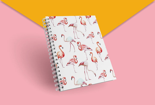 Cahier à spirale flamand roses pattern funny