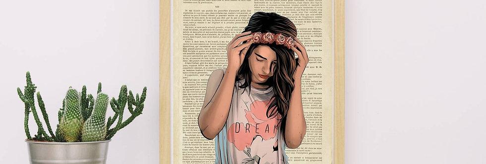 Affiche vintage Femme dream