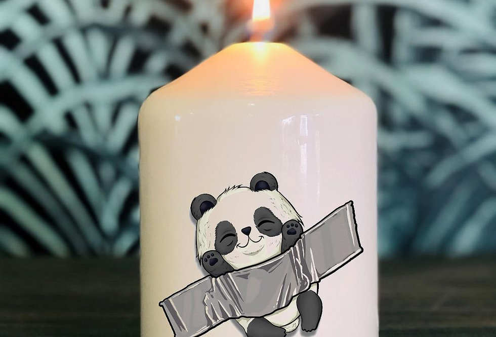 Bougie Panda rigolo