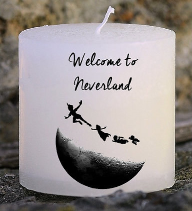 Bougie Personnalisée Nany Candle Welcome to neverland