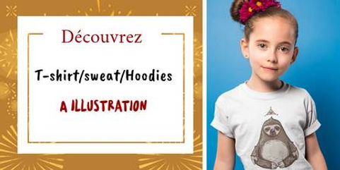 t-shirt sweat pull enfant a illustration dessin