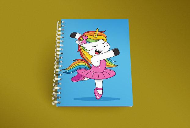 Cahier à spirale Licorne qui danse