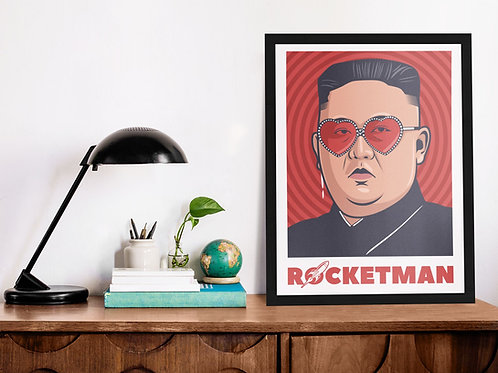 Affiche Illustration rocket