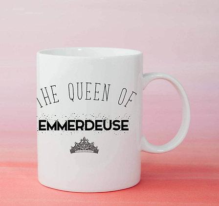 Mug the queen of emmerdeuse citattion drole pas cher