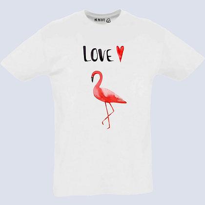 T-Shirt Unisexe Flamant rose watercolor