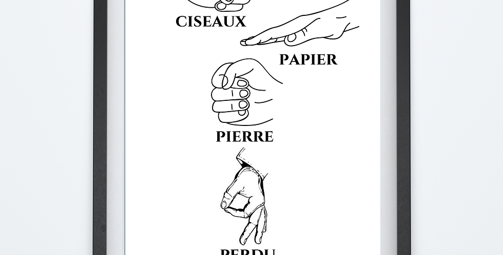 Affiche Pierre Papier Ciseaux 17