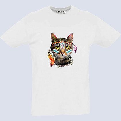 T-Shirt Unisexe Chat watercolor