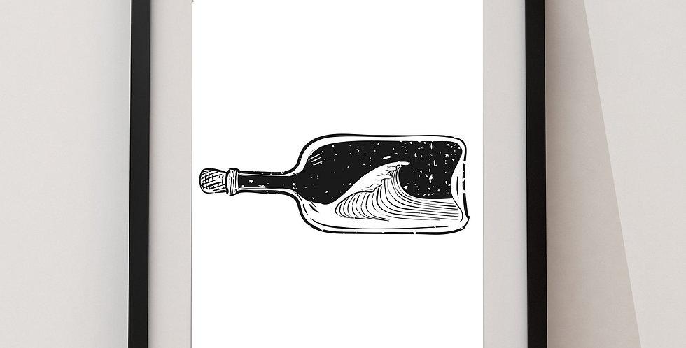 Affiche bouteille à la mer 189