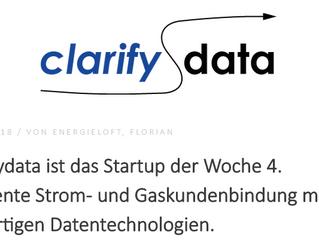 clarifydata ist StartUp der Woche