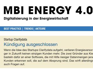 """""""Kündigung ausgeschlossen"""" clarifydata Top Story der MBI Energy 4.0"""