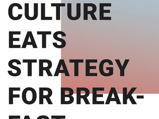 Culture eats strategy for breakfast: Waterkant 2018