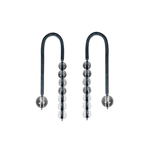 NEFELI Oxidized Silver Earrings