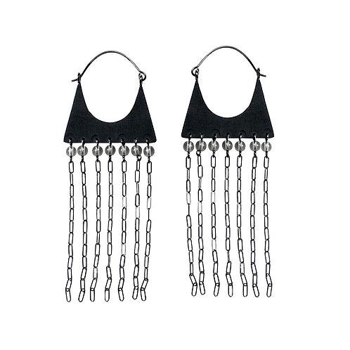 ALBA Oxidized Silver Earrings