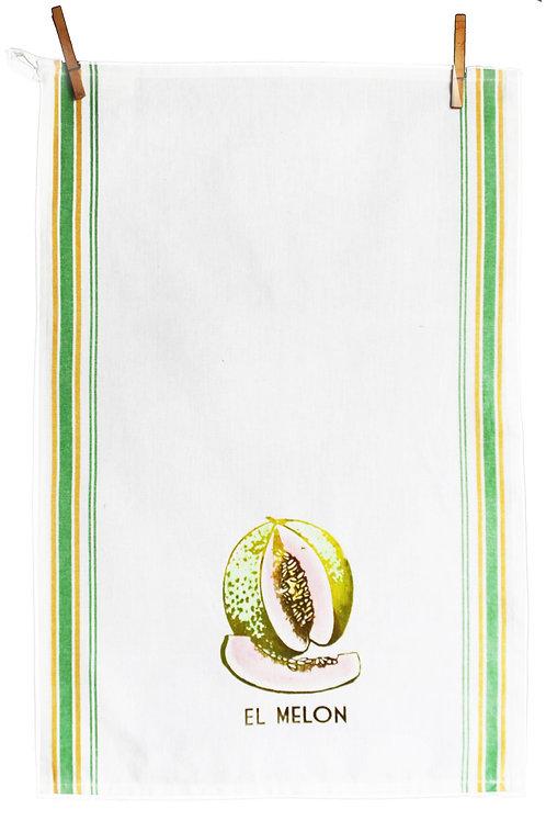 Loteria Inspired Tea Towel - El Melon