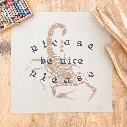 Please Be Nice Please