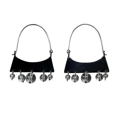 ESTELLA Oxidized Silver Earrings