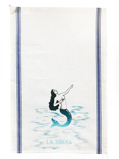 Loteria Inspired Tea Towels -La Sirena