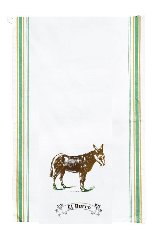 Loteria Inspired Tea towel - El Burro