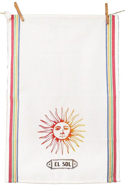 Loteria Inspired Tea Towel -El Sol
