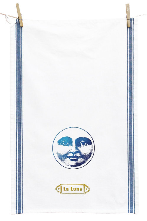 Loteria Inspired Tea Towel, La Luna