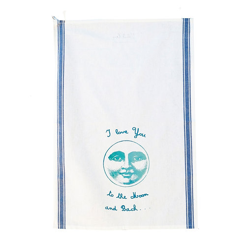 """""""Love you to the Moon and Back"""" Tea Towel"""