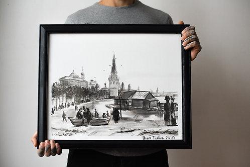 """Наводнение 1908 года"". Москва."