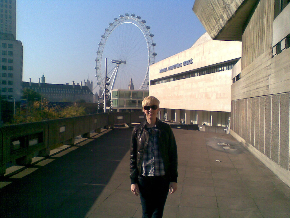 On London's South Bank, a few few years after I arrived.