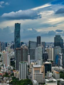 Bangkok Skyline Mahanakhon Skywalk