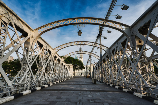 Singapore The Anderson Bridge