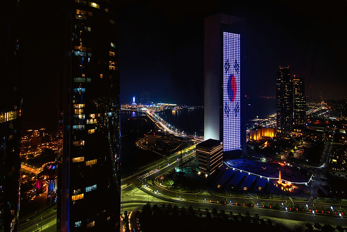 View from Etihad Towers Nights