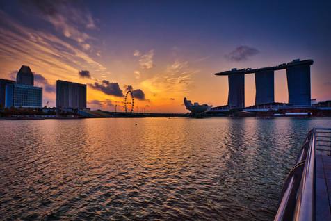 Singapore Skyline Sand Bay Hotel