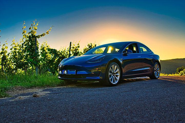 Tesla Model 3 LR Blue Sunset