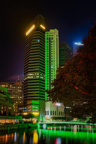 Singapore China Bank by Nights