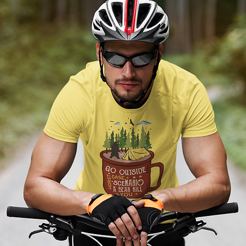 Go Outside Graphic Printed Cycling Active Tee by Hyparocks