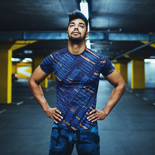 Hyparocks Abstract Printed Super Dry Running Tee