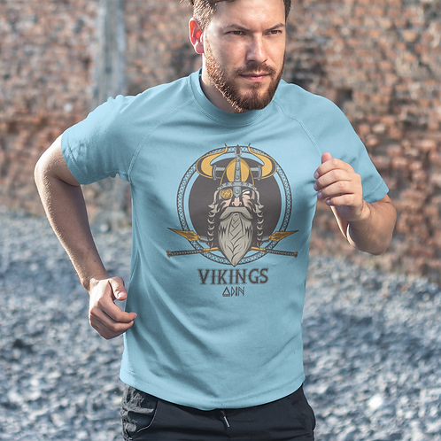 Viking Warrior Graphics Printed Super Dry T shirt by Hyparocks