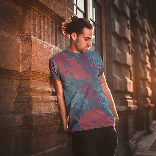 Camouflage Graphic Printed Super Dry Active Tee by Hyparocks