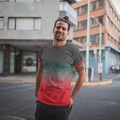 Red Graphic Printed Tee by Hyparocks