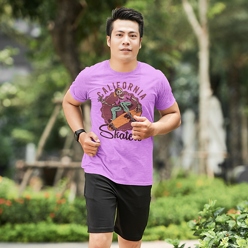 California Skaters Graphic Printed Active Tee by Hyparocks