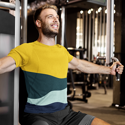 Multicolour Printed Super Dry Workout Tee by Hyparocks
