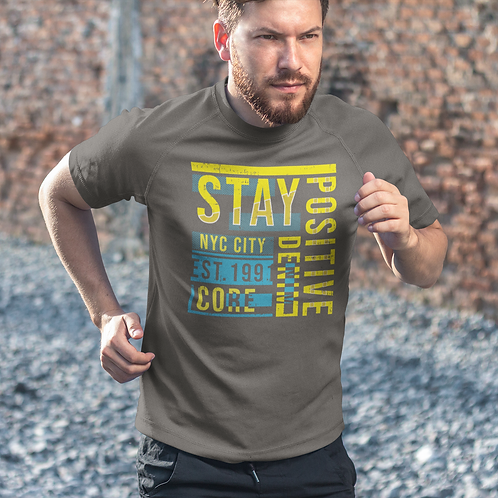 Stay Positive Active Running Tee by Hyparocks