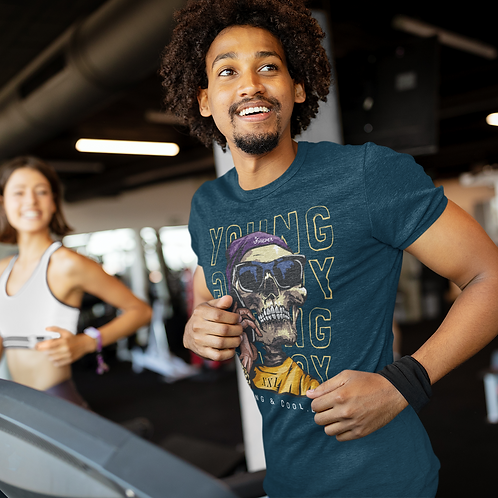 Young Skeleton Face Active Workout Tee